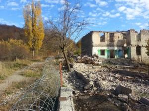 საუკუპაციო ხაზის მიერ ორად გაყოფილი სოფელი შიდა ქართლში